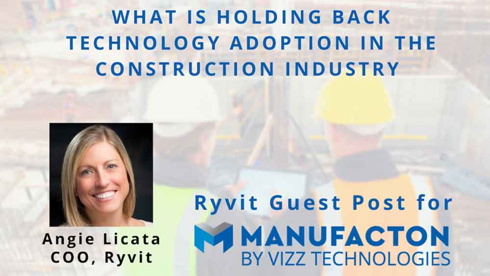 What is holding back technology adoption in the construction industry