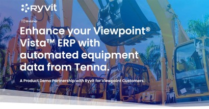Enhance your Viewpoint® Vista™ ERP with automated equipment data from Tenna.
